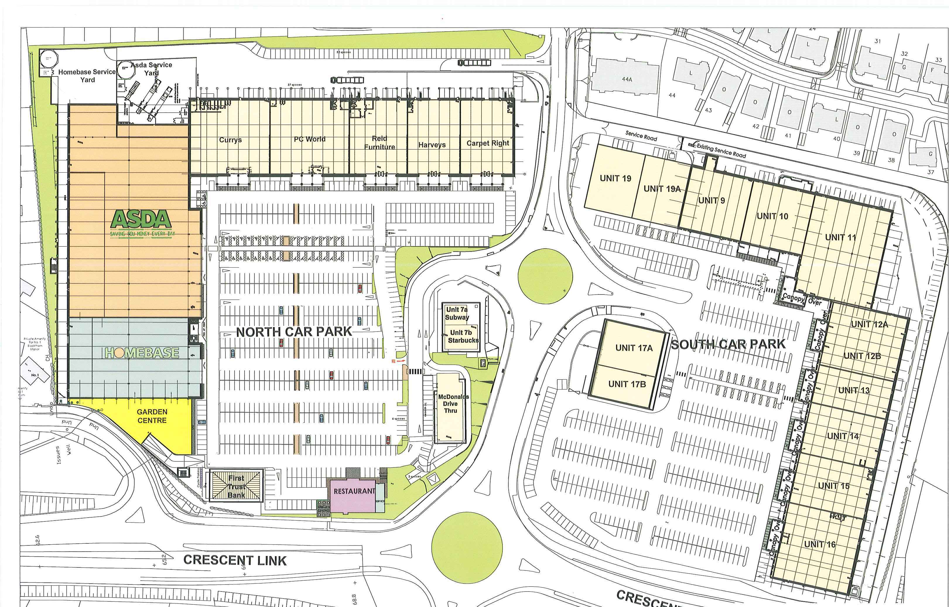 Site Plan - Crescent Link Retail Park, Derry